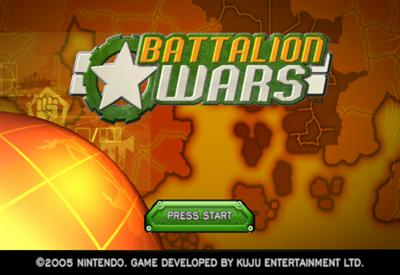 Battalion Wars - Screenshot - Game Title