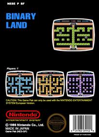 Binary Land - Fanart - Box - Back