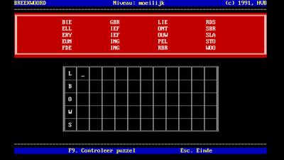 Breekwoord - Screenshot - Gameplay