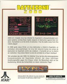 Battlezone 2000 - Box - Back