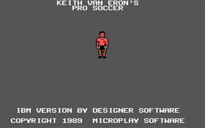 Keith Van Eron's Pro Soccer - Screenshot - Game Title