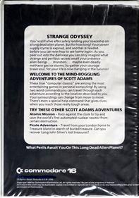 Strange Odyssey - Box - Back