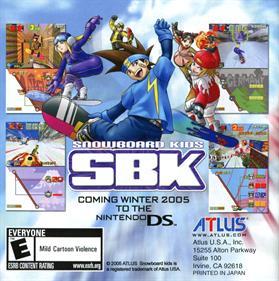 SBK: Snowboard Kids - Advertisement Flyer - Front