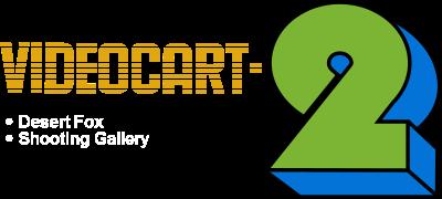 Videocart-2: Desert Fox & Shooting Gallery - Clear Logo