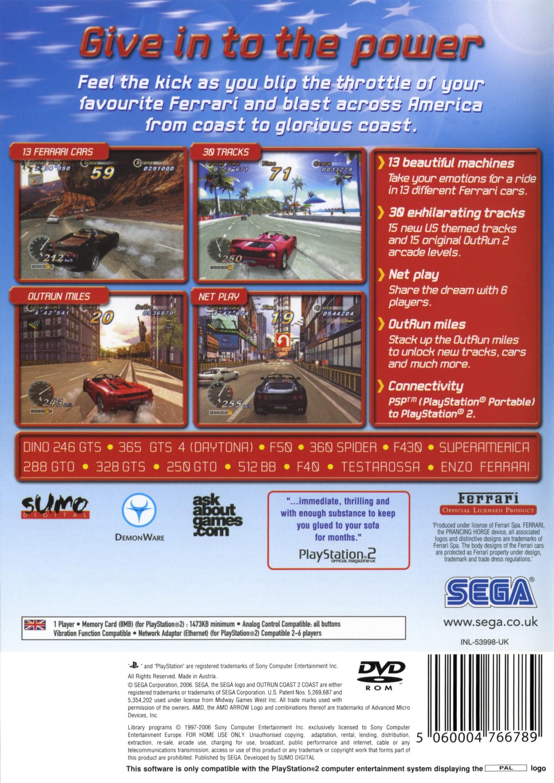 OutRun 2006: Coast 2 Coast Details - LaunchBox Games Database