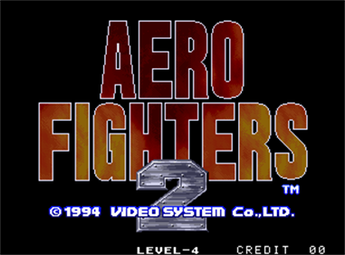 Aero Fighters 2 - Screenshot - Game Title