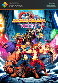 Double Dragon Neon - Fanart - Box - Front