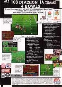 College Football USA 96 - Box - Back