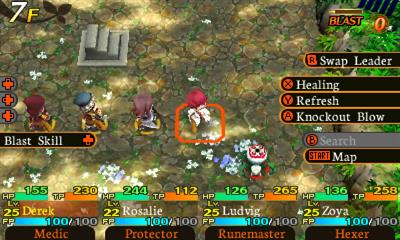Etrian Mystery Dungeon - Screenshot - Gameplay
