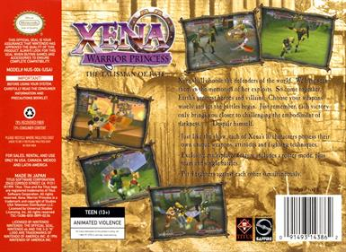 Xena: Warrior Princess: The Talisman of Fate - Box - Back
