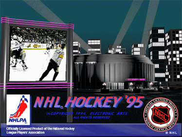 NHL Hockey 95 - Screenshot - Game Title