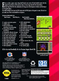 Tecmo Super Bowl III: Final Edition - Box - Back