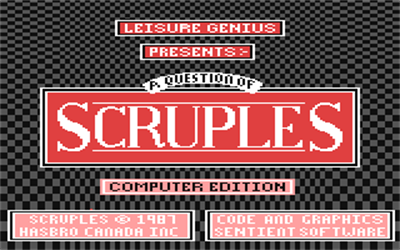 A Question of Scruples: The Computer Edition - Screenshot - Game Title