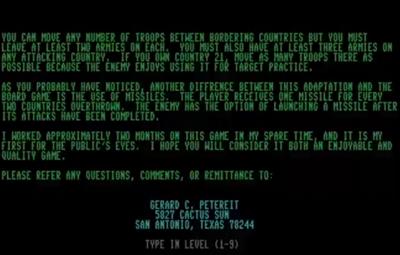 Ultimate Risk - Screenshot - Game Select