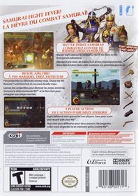 Samurai Warriors: Katana - Box - Back