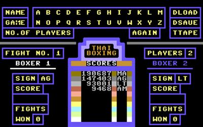 Thai Boxing - Screenshot - Game Select