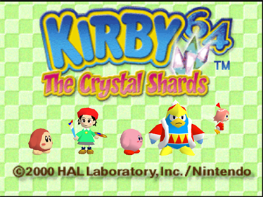 Kirby 64: The Crystal Shards - Screenshot - Game Title