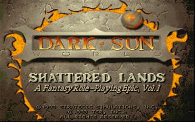 Dark Sun: Shattered Lands - Screenshot - Game Title