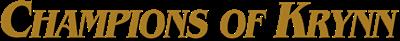 Champions of Krynn - Clear Logo