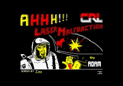 Ahhh!!! Laser Malfunction! - Screenshot - Game Title