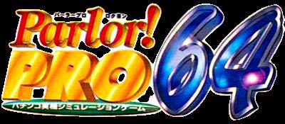 Parlor! Pro 64: Pachinko Jikki Simulation Game - Clear Logo