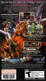 Yggdra Union: We'll Never Fight Alone - Box - Back