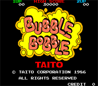 Bubble Bobble - Screenshot - Game Title