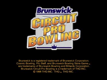 Brunswick Circuit Pro Bowling - Screenshot - Game Title