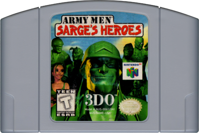 Army Men: Sarge's Heroes - Cart - Front