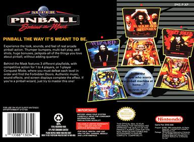 Super Pinball: Behind the Mask - Box - Back