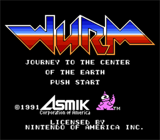 Wurm: Journey to the Center of the Earth - Screenshot - Game Title