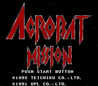 Acrobat Mission - Screenshot - Game Title