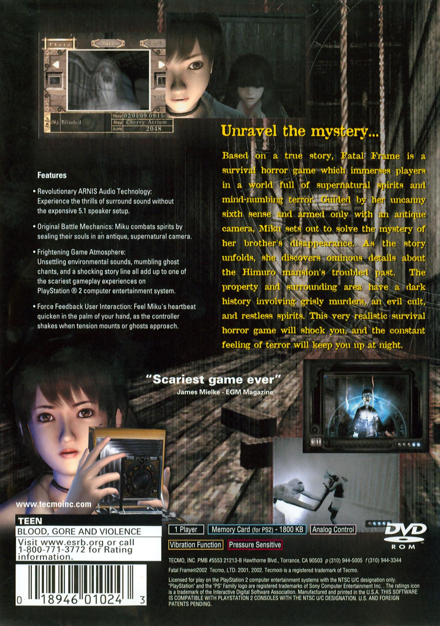 Fatal Frame Details - LaunchBox Games Database