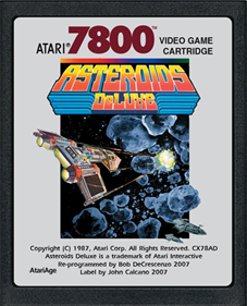Asteroids Deluxe - Cart - Front