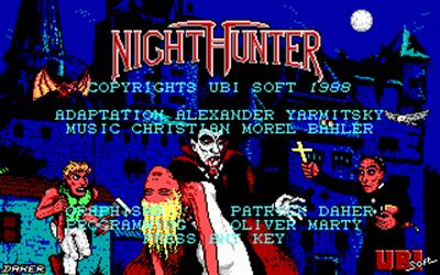 NightHunter - Screenshot - Game Title