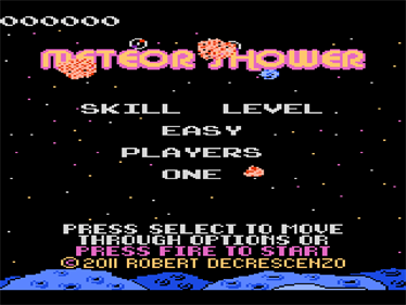 Meteor Shower - Screenshot - Game Title
