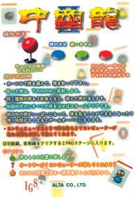 Dragon World II - Arcade - Controls Information