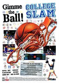 College Slam - Advertisement Flyer - Front