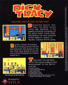 Dick Tracy - Box - Back