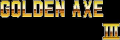 Golden Axe III - Clear Logo