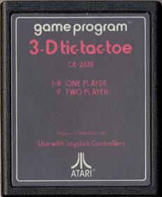 3-D Tic-Tac-Toe - Cart - Front