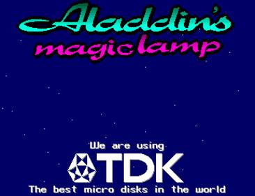 Aladdin's Magic Lamp - Screenshot - Game Title