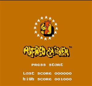 Alfred Chicken - Screenshot - Game Title