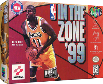 NBA in the Zone '99 - Box - 3D
