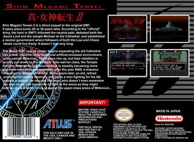 Shin Megami Tensei II - Fanart - Box - Back