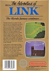 Zelda II: The Adventure of Link - Box - Back