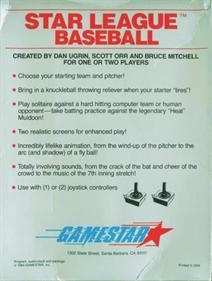 Star League Baseball - Box - Back
