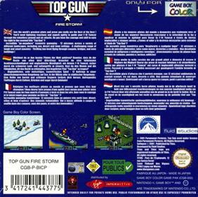 Top Gun: Firestorm - Box - Back