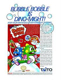 Bubble Bobble - Advertisement Flyer - Front