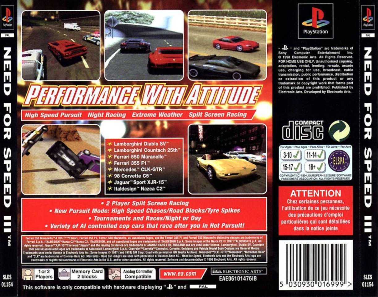 Need For Speed Iii Hot Pursuit Details Launchbox Games Database